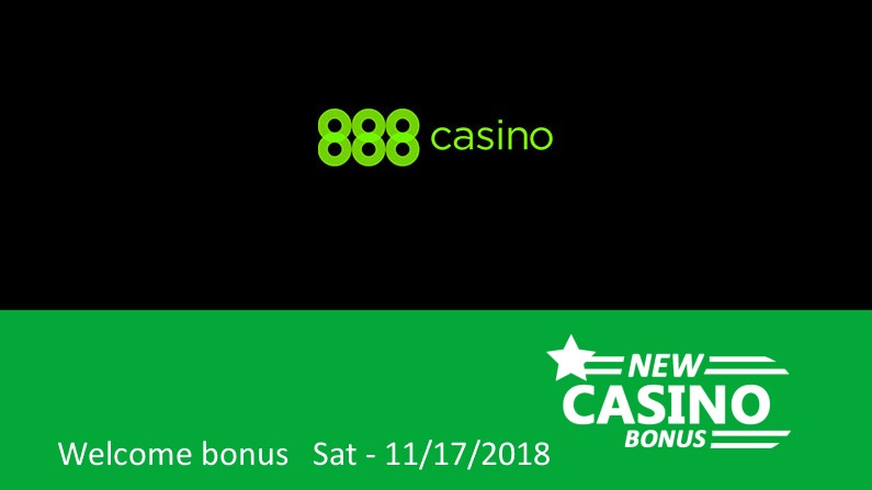 Latest 888 Casino bonus: 100% up to 100€ in bonus, 1st deposit bonus