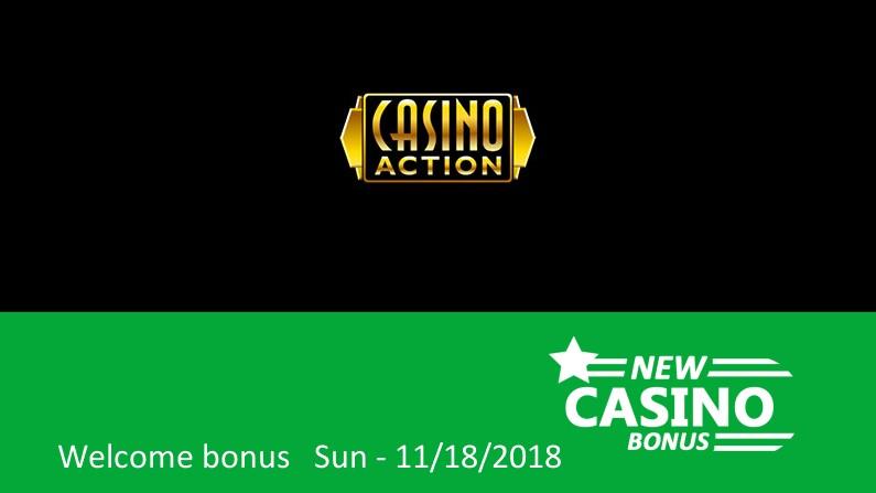 New Casino Action bonus – 100% up to 150€ in bonus, 1st deposit bonus