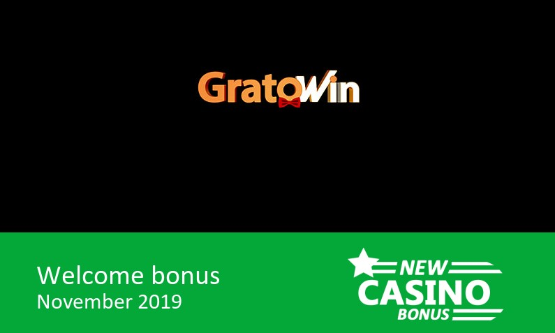 GratoWin Casino bonus offer 100% up to 200€ in bonus, 1st deposit bonus
