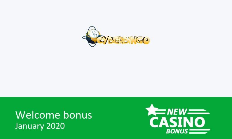 Latest CyberBingo Casino bonus 500% match bonus, 1st deposit bonus