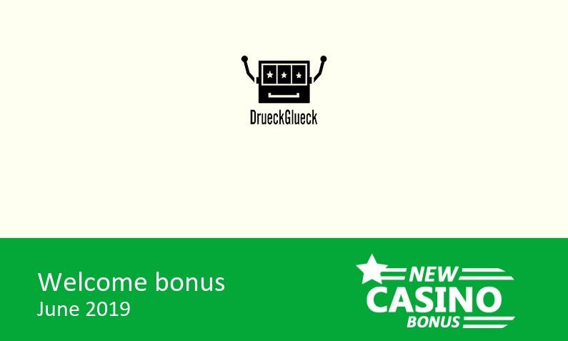 Latest DrueckGlueck Casino bonus offer, 100% up to 100€ in bonus + 50 bonus spins on Jungle Books, 1st deposit bonus