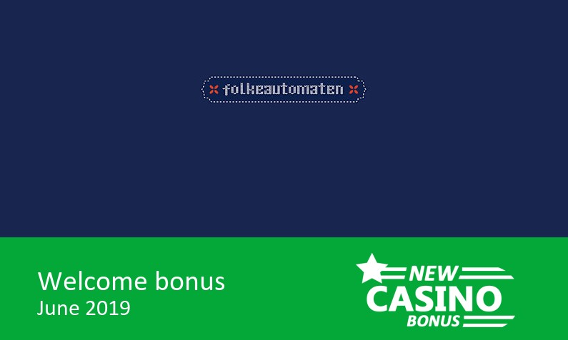 Latest Folkeautomaten Casino bonus offer, Deposit 200 NOK, and play for 500 NOK, 1st deposit bonus