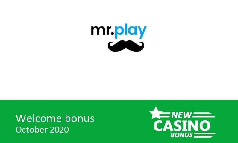 Mr Play Casino offers: 100% up to 200$ in bonus + 20 bonus spins, 1st deposit bonus