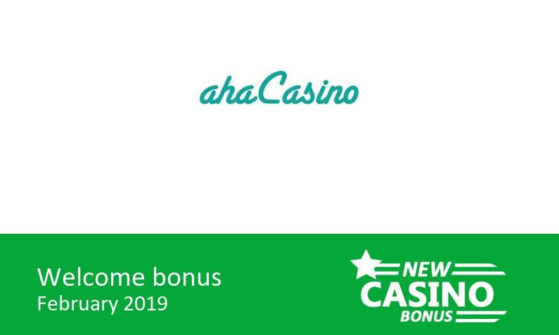 New aha Casino bonus offer: 100% up to 100€ in bonus + 25 bonus