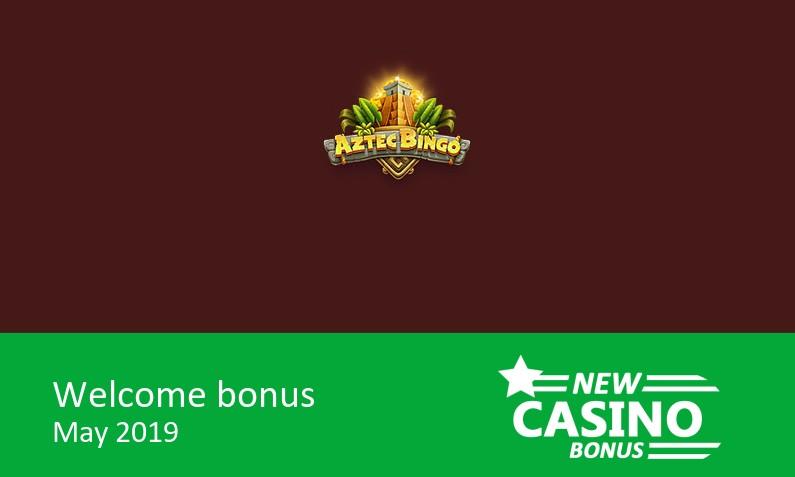 New Aztec Bingo Casino bonus – Deposit 10£, Get 30£ in bingo tickets, 1st deposit bonus