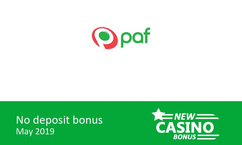 New bonus upon registration from Paf Casino