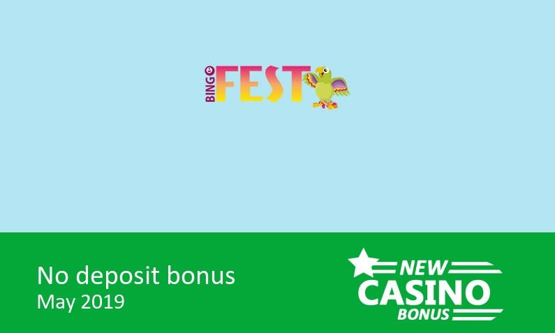 New bonus upon sucessfull completion of registration from BingoFest Casino