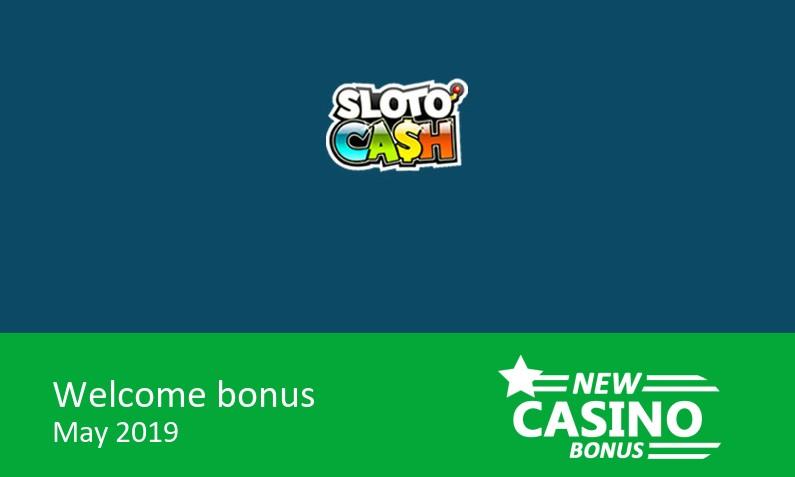 New Sloto Cash Casino bonus 200% match bonus + 100 bonus spins, 1st deposit bonus