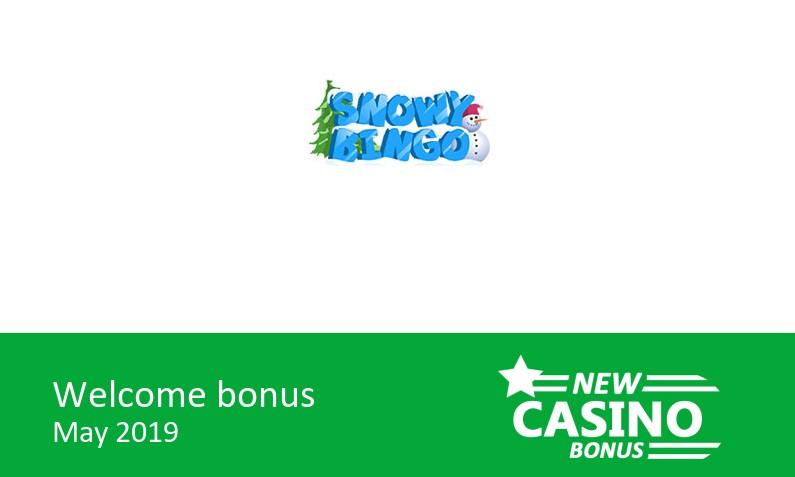 New Snowy Bingo Casino gives: 200% bingo bonus & 100% game bonus up 105£, 1st deposit bonus